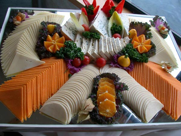A cheese tray from a Vancouver catered event
