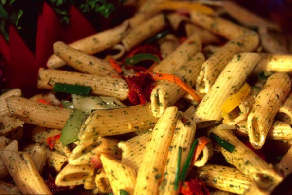 A delicious penne pasta salad by Vancouver caterer, Just Right Catering
