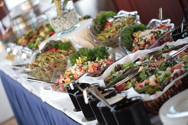 A catered Vancouver dinner buffet isn't complete without a selection of fresh salads from Just Right.