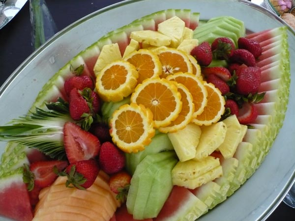 Brighten up your table and add a fruit platter to your catered dinner event
