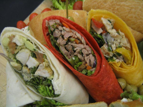Wraps for your catered lunch event in Vancouver