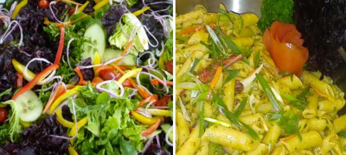 Salads and options
