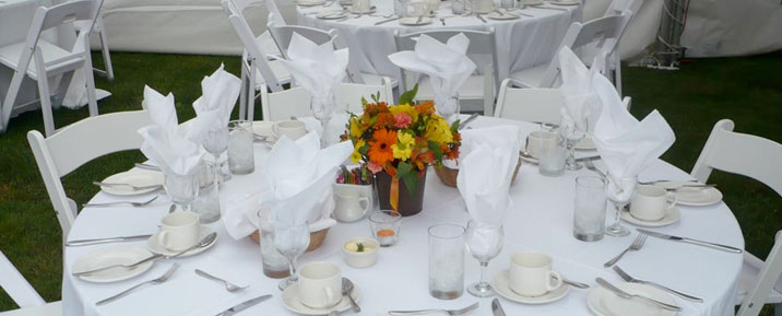 Table Settings at a Vancouver wedding